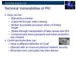 technical vulnerabilities of pki