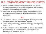 u s engagement since kyoto
