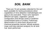soil bank