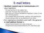 e mail letters