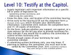 level 10 testify at the capitol
