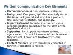 written communication key elements