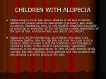 children with alopecia