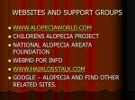 websites and support groups
