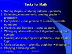 tasks for math