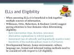 ells and eligibility