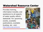 watershed resource center