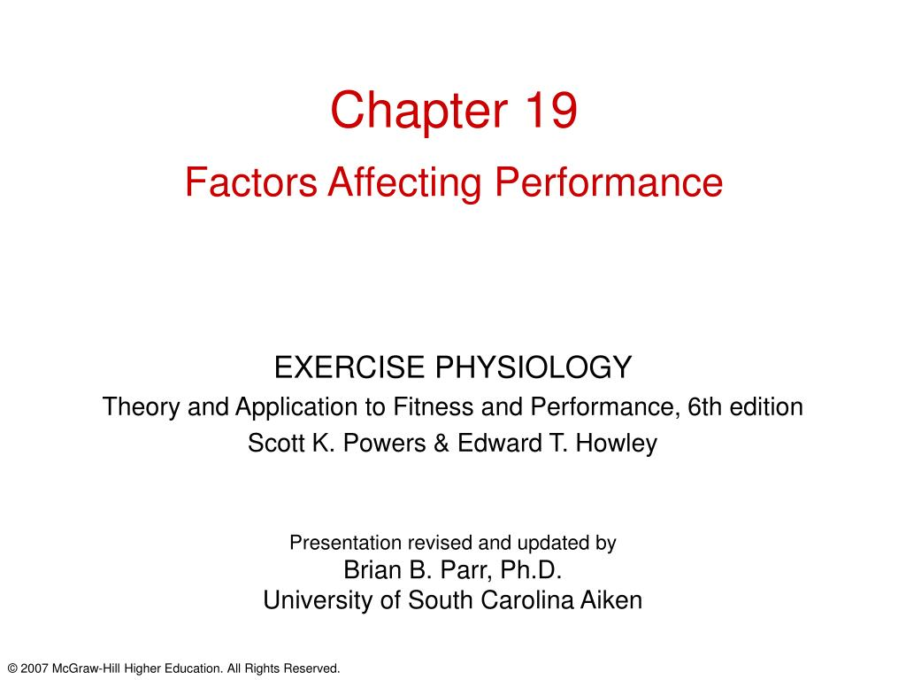 chapter 19 factors affecting performance l.