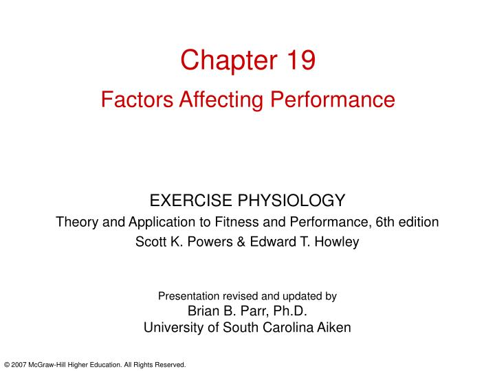 chapter 19 factors affecting performance n.