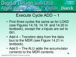 execute cycle add 1