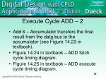 execute cycle add 2