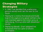 changing military strategies