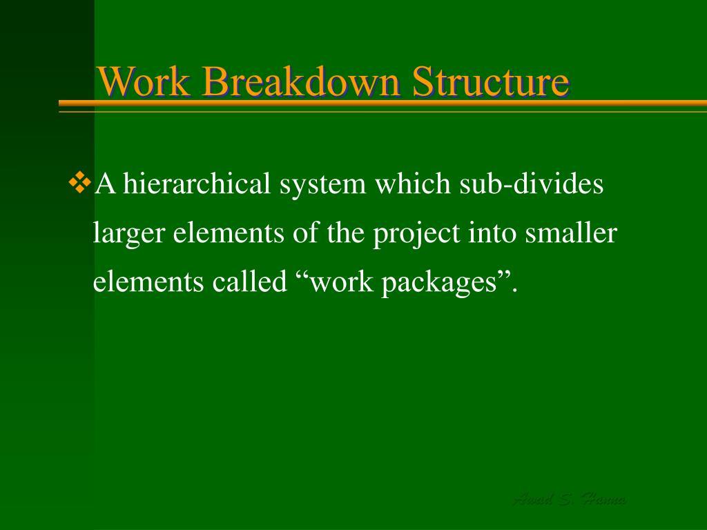 work breakdown structure l.