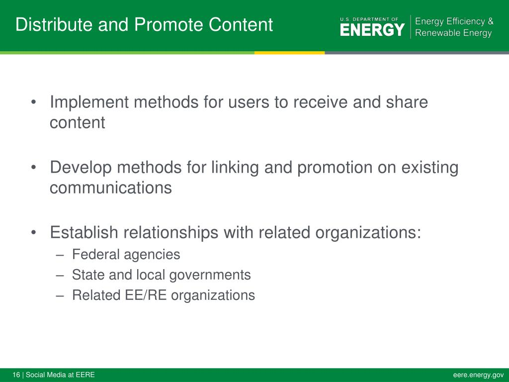 Distribute and Promote Content