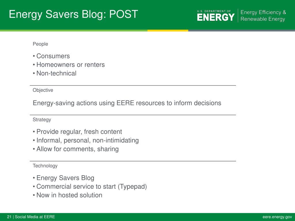 Energy Savers Blog: POST