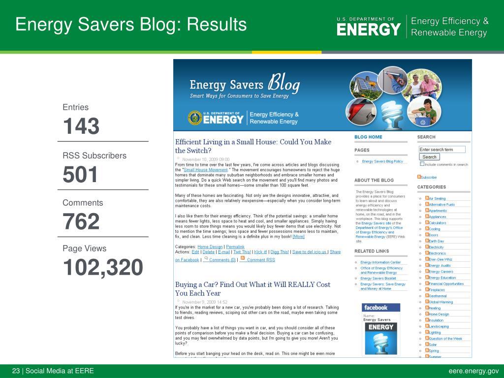 Energy Savers Blog: Results