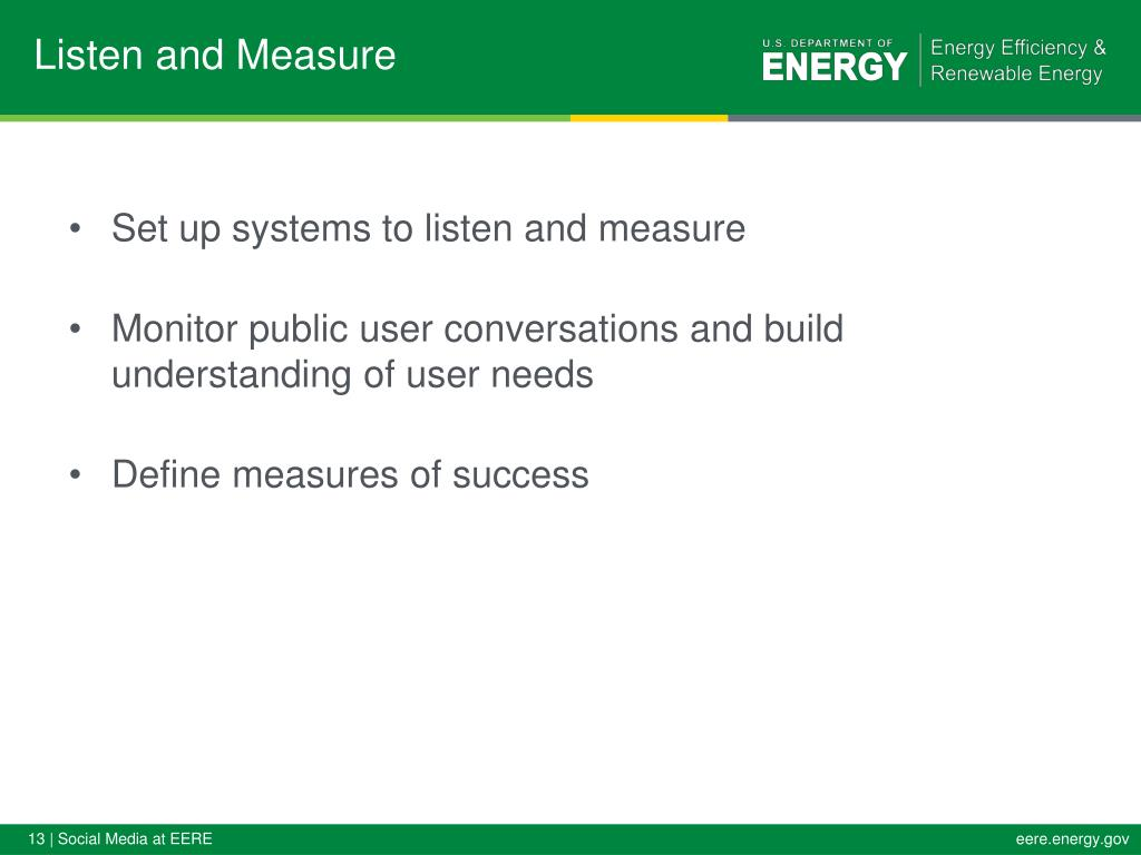 Listen and Measure