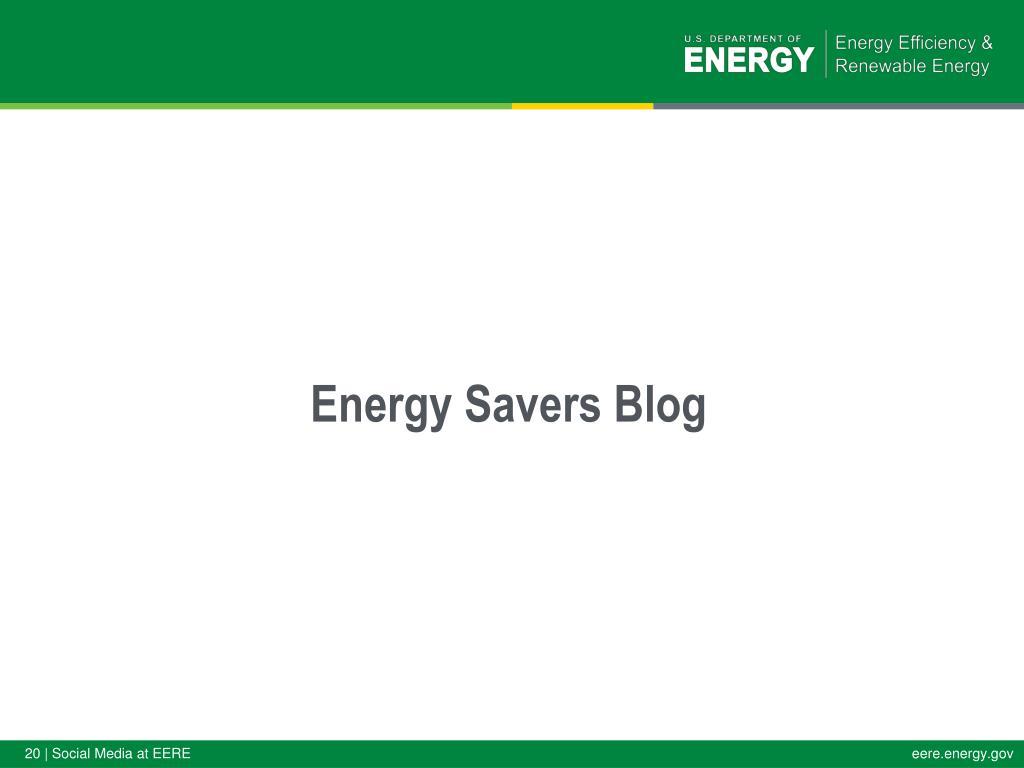 Energy Savers Blog