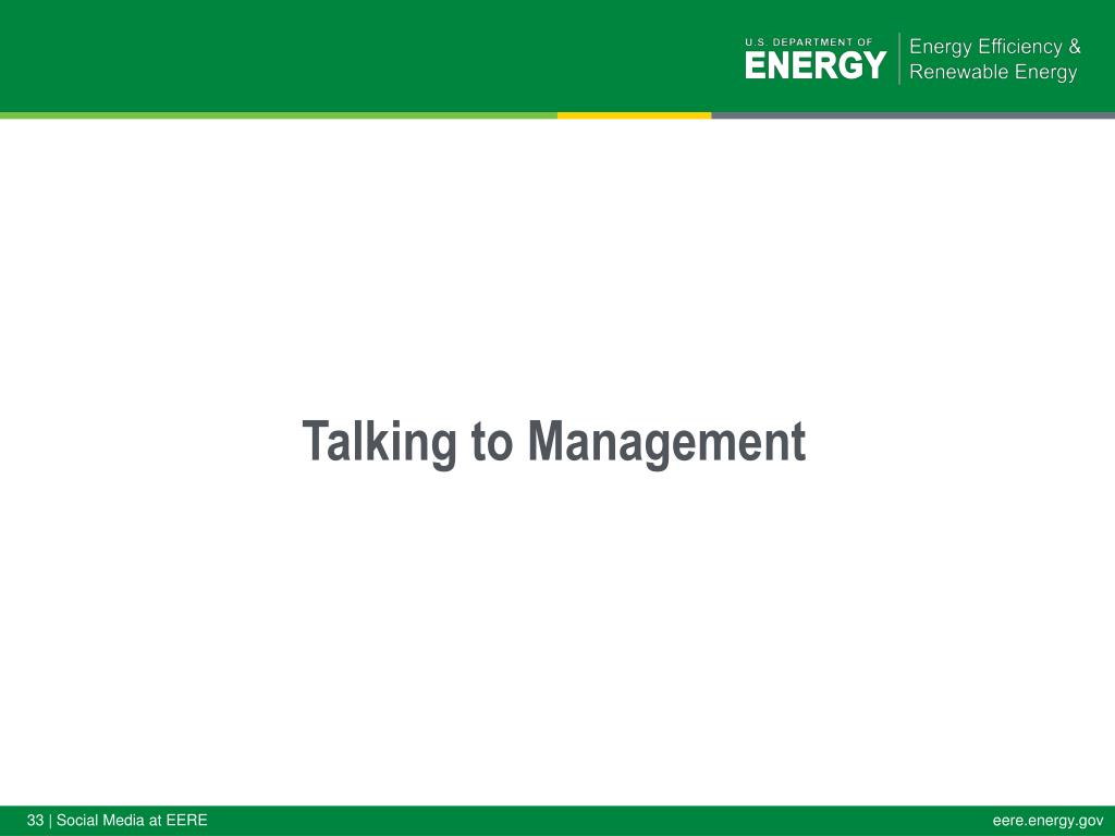 Talking to Management