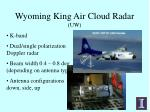 wyoming king air cloud radar uw