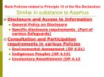 bank policies related to principle 10 of the rio declaration similar in substance to aaarhus