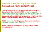 interaction aarhus inspection panel case albania power sector project