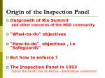 origin of the inspection panel