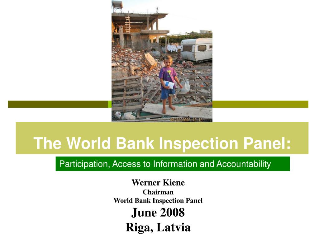 the world bank inspection panel l.