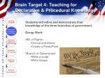 brain target 4 teaching for declarative procedural knowledge