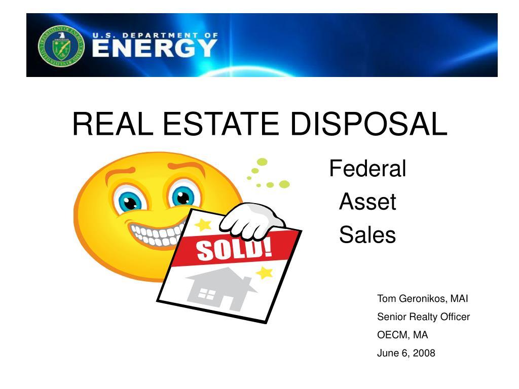 real estate disposal l.