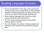 scripting languages evolution