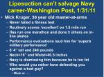 liposuction can t salvage navy career washington post 1 31 11