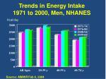 trends in energy intake 1971 to 2000 men nhanes