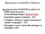 shpenzimet e kontrollit t malarias