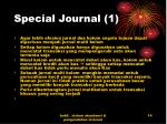 special journal 1