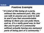 positive example