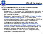 gps mt clarification