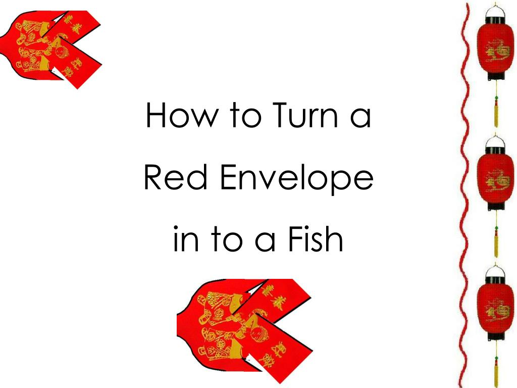 how to turn a red envelope in to a fish l.