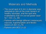 materials and m ethods