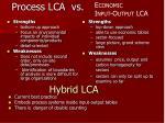 process lca vs