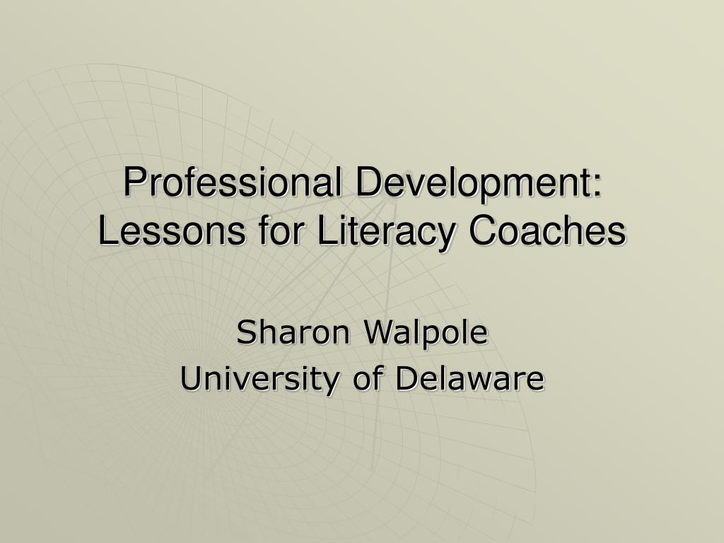 professional development lessons for literacy coaches l.