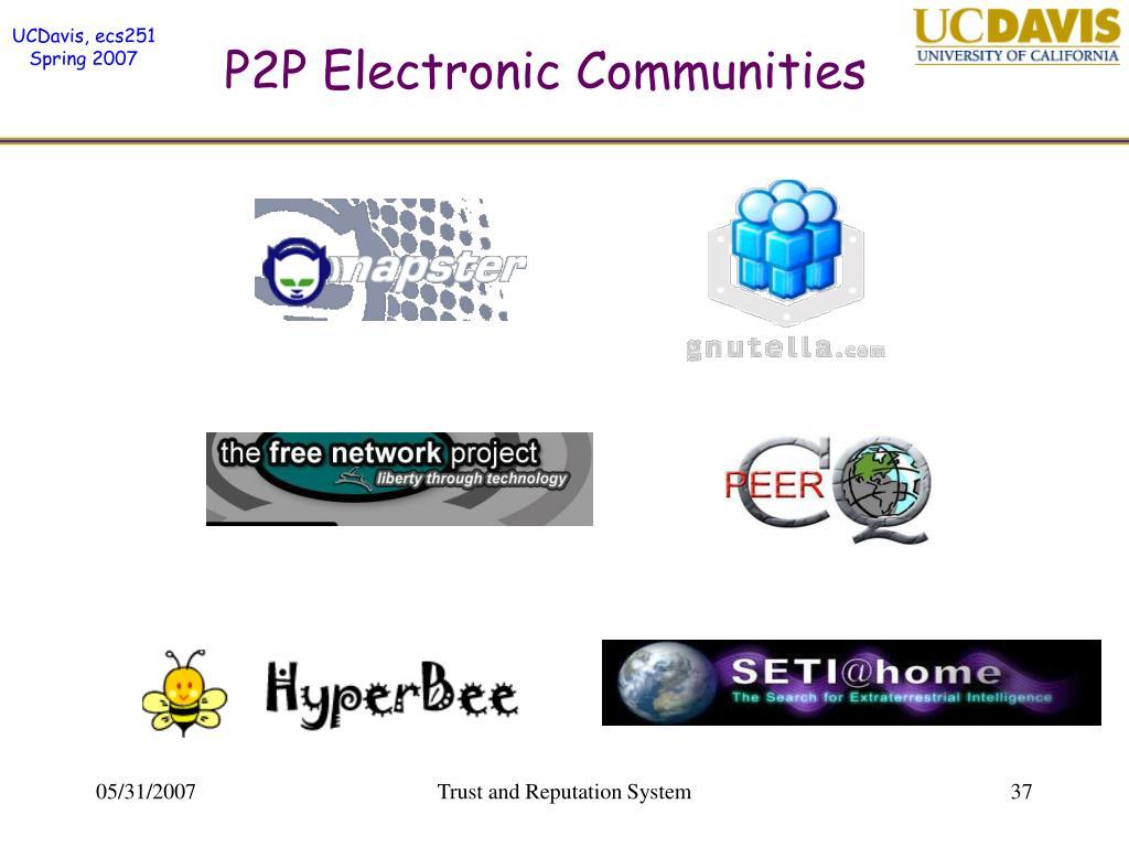 P2P Electronic Communities