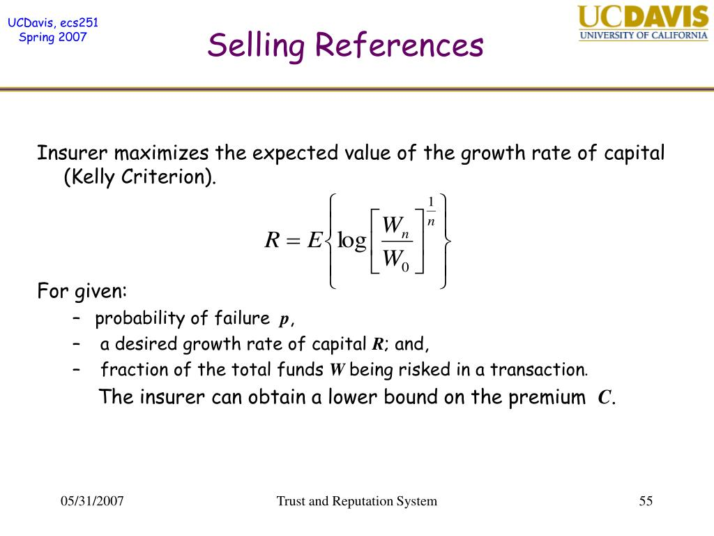 Selling References