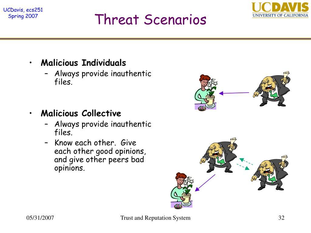 Threat Scenarios