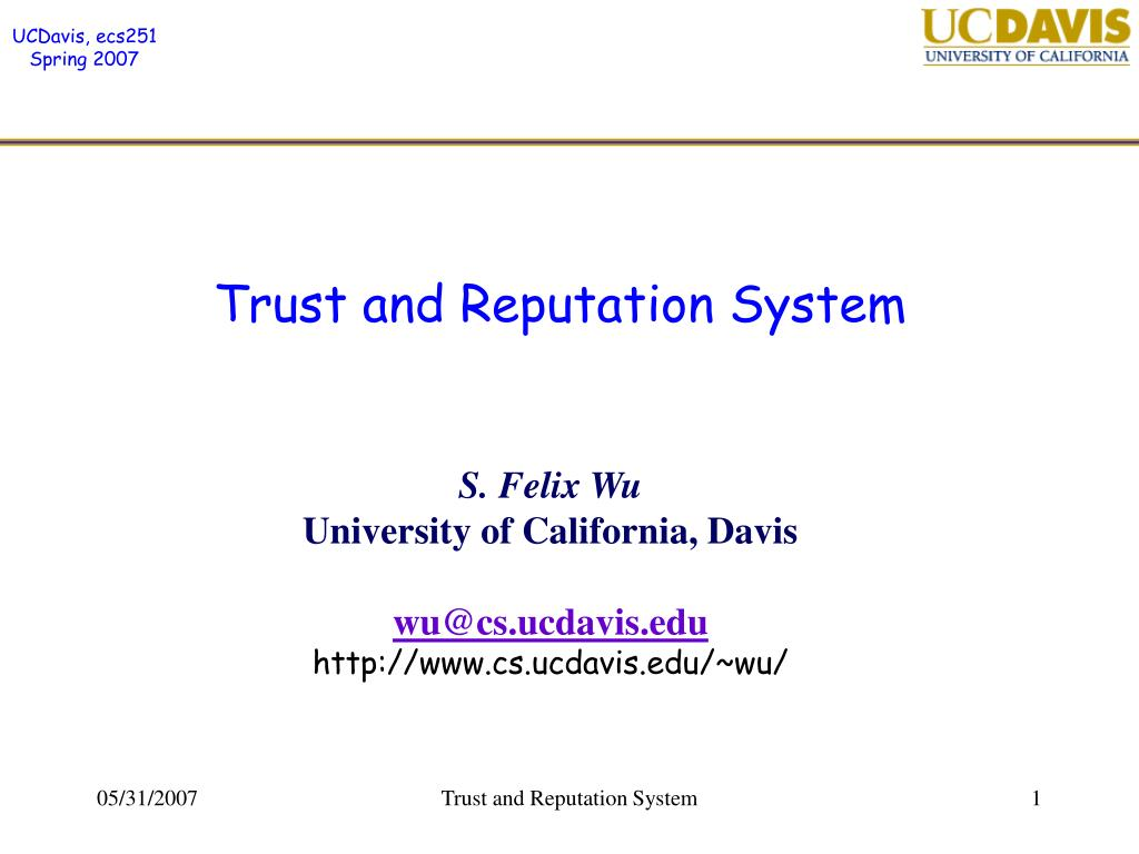 trust and reputation system l.