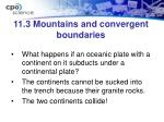 11 3 mountains and convergent boundaries