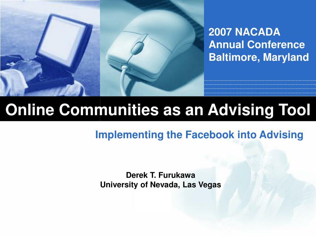 online communities as an advising tool l.