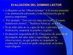 evaluaci n del dominio lector13