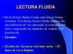 lectura fluida