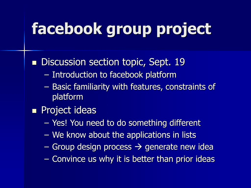 facebook group project